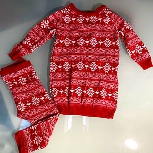 Sweater dress and leggings in isle style! 12-18m